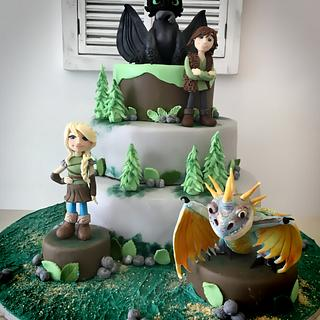 Dragon trainer cake