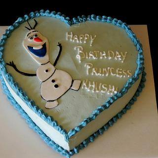 olaf cake  - Cake by steffy