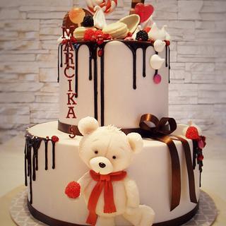 birthday drip cake - Cake by timea