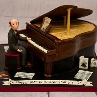 Grand piano cake - Cake by Cakes By No More Tiers (Fiona Brook)