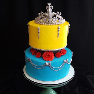 "3D Crown for ""Beauty and the Beast""  them birthday cake."