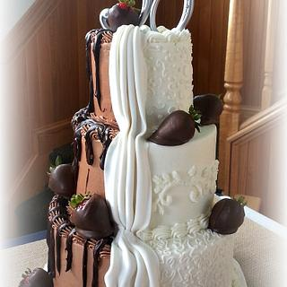 Two become One Wedding Cake