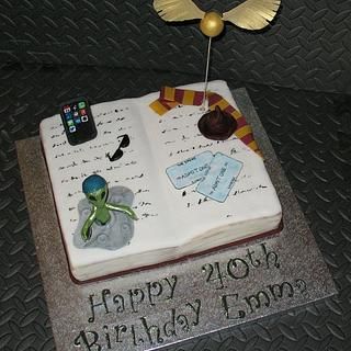 Harry Potter, Alien, Baseball Cap, iPhone, Cinema Tickets Cake