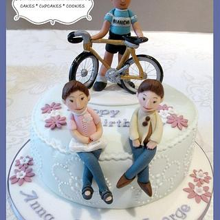One man and two ladies. - Cake by SLBakes
