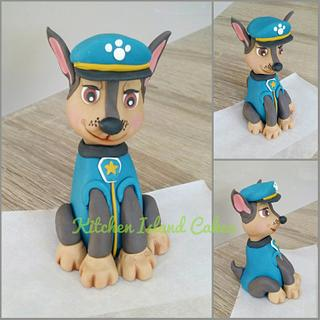 Paw Patrol 'Chase' topper - Cake by Kitchen Island Cakes