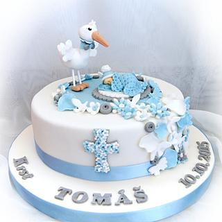 Classic christening cake - Cake by Ivon