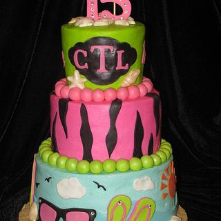 Beach Theme cake  - Cake by Deborah