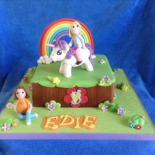 Unicorn cake - Cake by Deborah Cubbon (the4manxies)