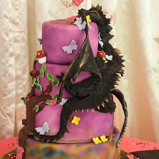 Mystical wedding cake
