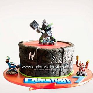 Skylanders Light up Portal cake