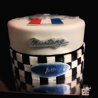 Mustang birthday cake  - Cake by Sweet Delights By Krystal