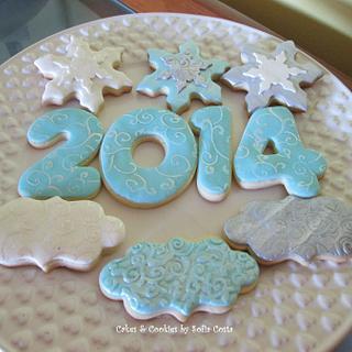 Happy 2014 cookies