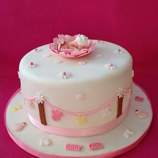 Emma's Baby Shower cake.  - Cake by Roberta