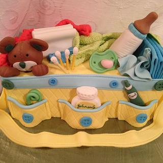 Baby Diaper Bag - Cake by Maggie Rosario