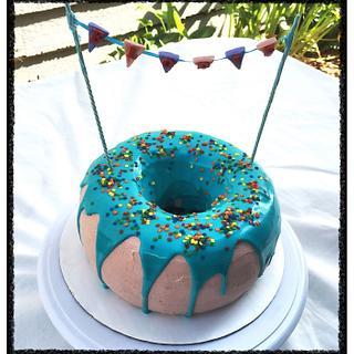 Gluten free donut shaped cake