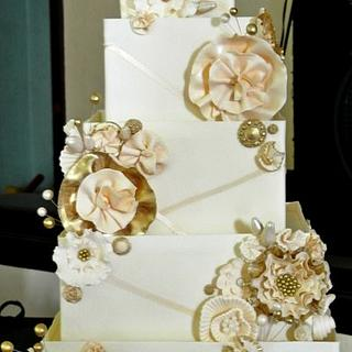 Wedding Cake With Some Bling
