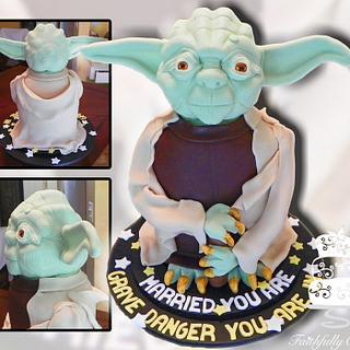 Yoda Groom's Cake
