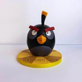Angry Bird Bomb - Cake by K's fondant Cakes