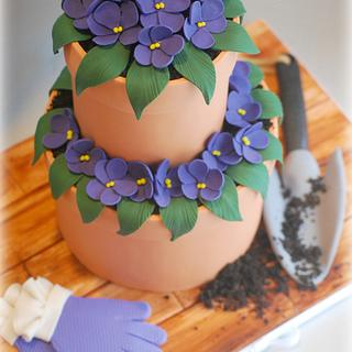 Super Cake Moms Collaboration:  VIOLETS!