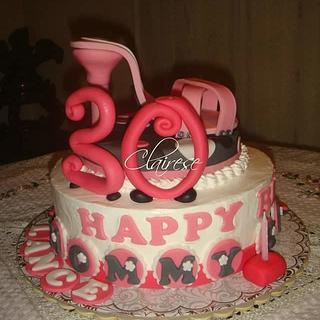 Stiletto themed cake