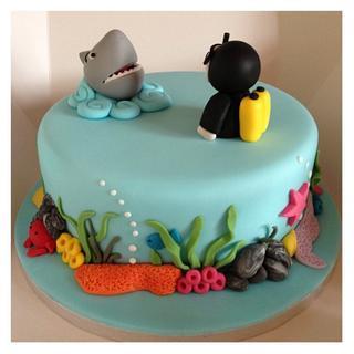 Scuba diving!! - Cake by sarah