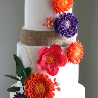 Bright Dahlias - Cake by Sada Ray