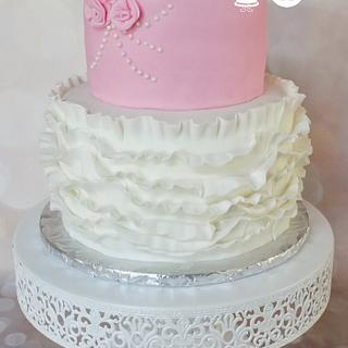 Rose Bouquet & Ruffles - Cake by Sugar Sweet Cakes