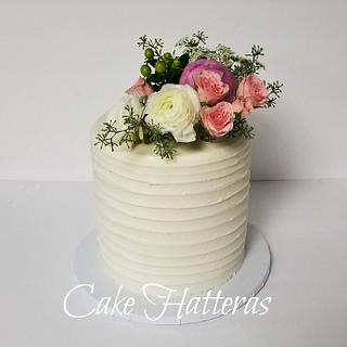 Double Barrel 50th Wedding Anniversary Cake