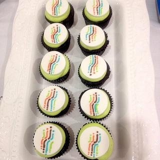 Water for People Logo Cupcakes