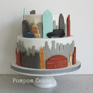 Cityscape cake - Cake by PompomCakes