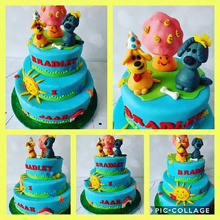 Dogs birhtday cake