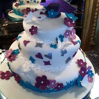 Mad Hatter inspired wedding cake