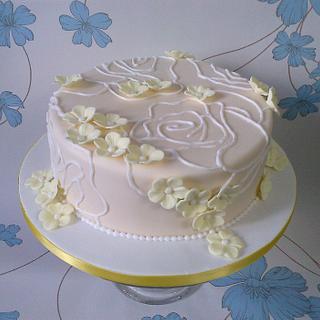 Rose and Blossom cake