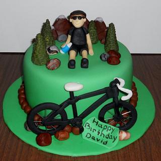 Mountain Biking - Cake by Pamela Sampson Cakes