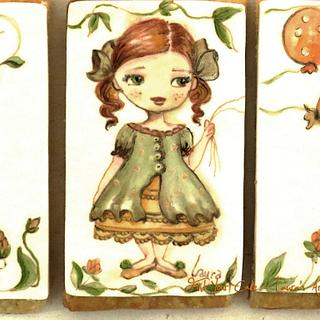 The little girl with balloons - Cake by Laura Ciccarese - Find Your Cake & Laura's Art Studio