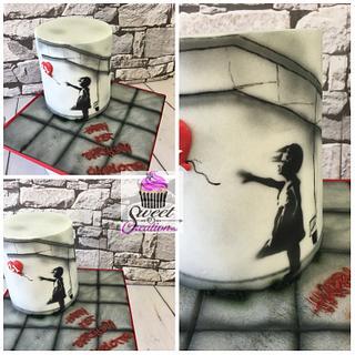 Banksy cake  - Cake by Niki