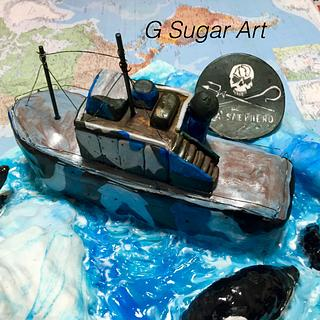 Sea Shepherd Cake  - Cake by G Sugar Art