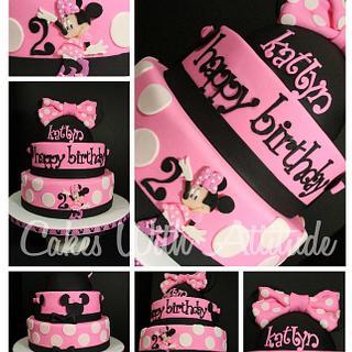 Minnie Mouse Birthday Cake - Cake by Viviana & Guelcys