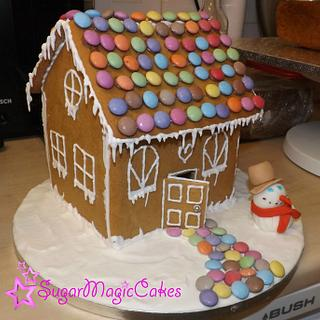 Ollie's First Model with Gingerbread House! :) - Cake by SugarMagicCakes (Christine)