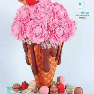 Mama's Boys Collaboration: Ice Cream Cone Peonies