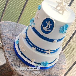 Nautical wedding - Cake by Cakes by Toni