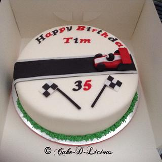 Racing car cake - Cake by Sweet Lakes Cakes