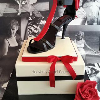 Chic stilletto cake