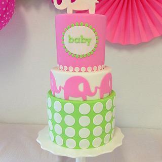 Pink elephants - Cake by Bakermama