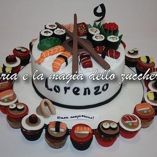 Sushi cake and minicupcakes - Cake by Daria Albanese