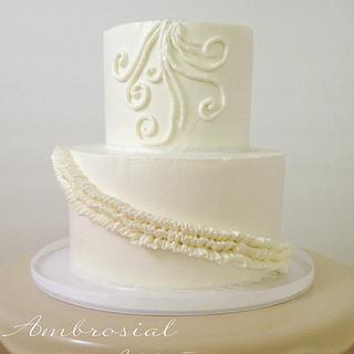 White-On-White Cake