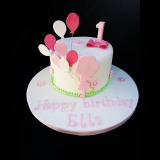 Balloon girl. - Cake by Mrsmurraycakes