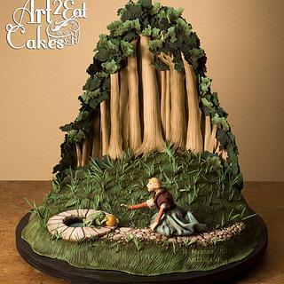 """Frog Prince"": Rackham Illustration Cake"