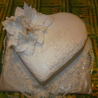 White cake.
