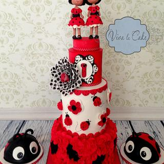Lady Bug Frenzy  - Cake by Joly Diaz